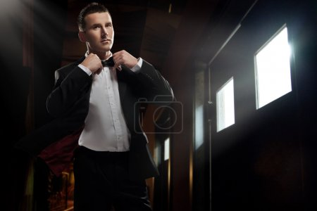Photo for Elegant young man walking - Royalty Free Image