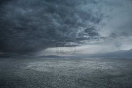 Photo for Stormy weather and dark clouds - Royalty Free Image