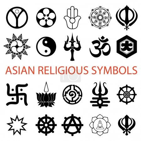 Vector. various religious symbols
