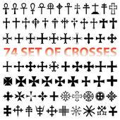 Set Crosses Christan vector. various religious symbols