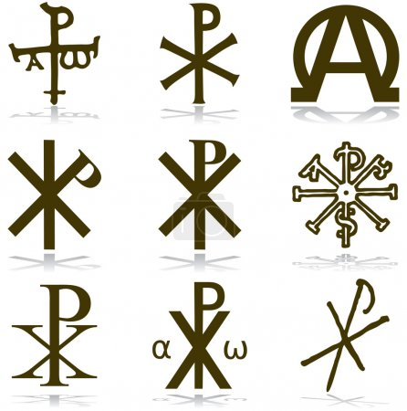 Set Christan vector. various religious symbols