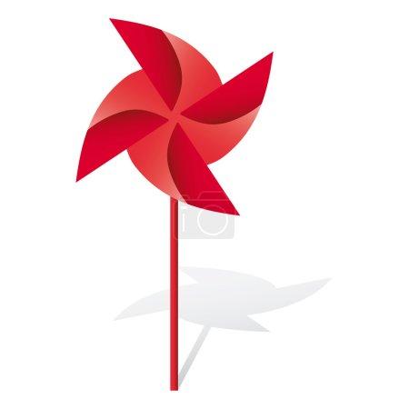 Windmill vector origami illustration