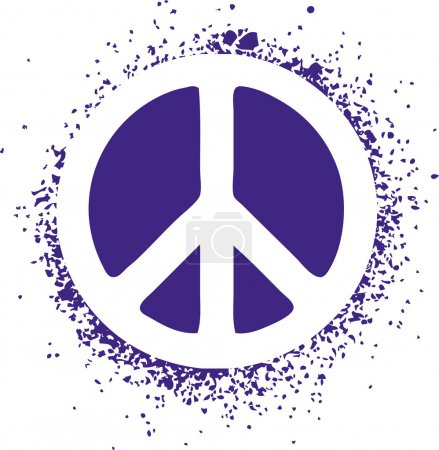 Peace sign isolated on a background vector illustration