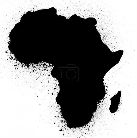 Illustration pour Grunge carte de l'illustration vectorielle d'encre africaine - image libre de droit