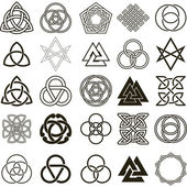 Set of symbols icons vector Tattoo design set