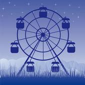 Ferris wheel vector illustration Amusement park cartoon