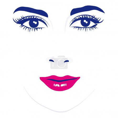 Illustration for Woman face eyes vector illustration - Royalty Free Image