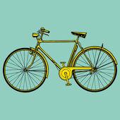 Old classic bike Illustration Vector