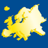 Europe 3D flag map