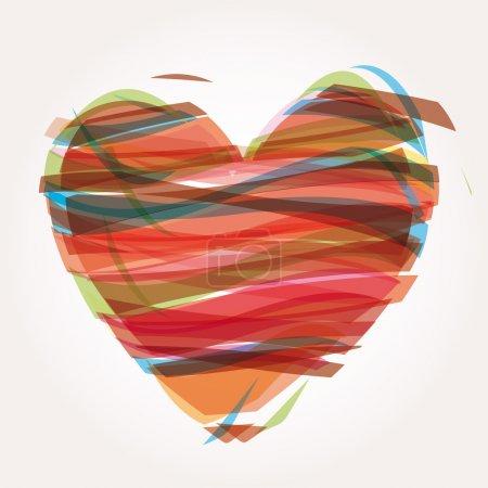Illustration pour Symboles d'icônes d'illustration de vecteur de coeur Saint Valentin - image libre de droit