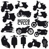 Motorcycle set - vector