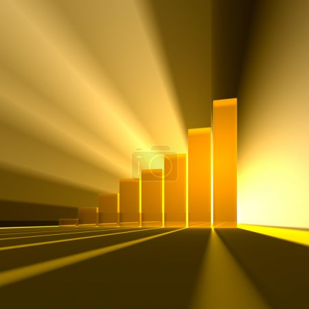 Photo for Symbolic graphs up to the light poles in the rays - Royalty Free Image