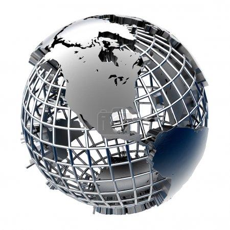 modèle stylisé de métal de la terre