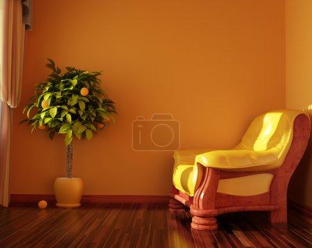 Photo pour Intérieur chambre commode (rendu 3d  ) - image libre de droit