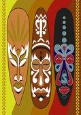 """Постер, картина, фотообои """"африканские маски"""""""