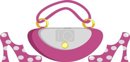 Fashionable women's footwear and handbag