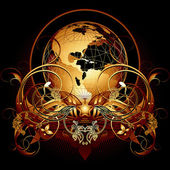 World with ornate
