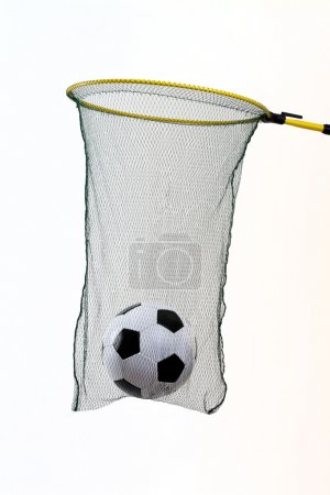 Football cought in a fishing net mixed choice to g...