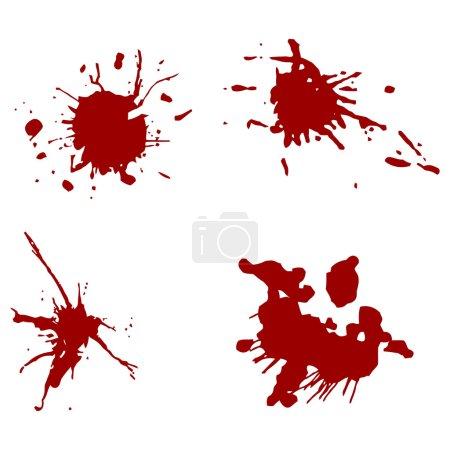 Illustration for Blood red splatters (vector) illustration - Royalty Free Image