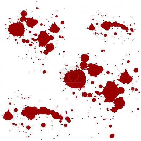 Blood red splatters vector illustration
