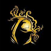 čepice zlata s vzorem. vektor