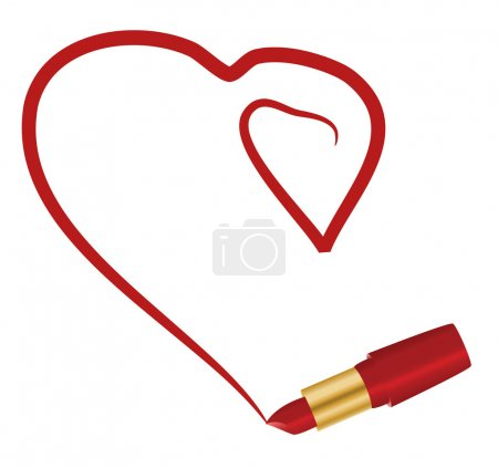 Heart and lipstick