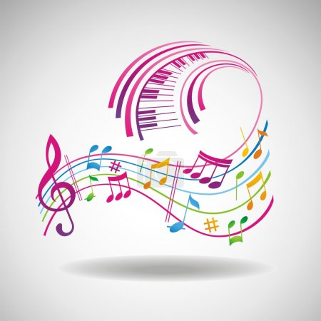 Photo for Colorful music background. - Royalty Free Image