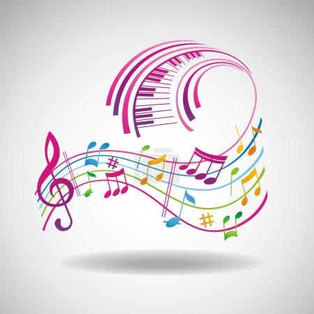 Photo pour Fond musical coloré. - image libre de droit