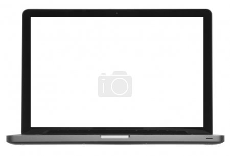 Laptop or computer isolated on white