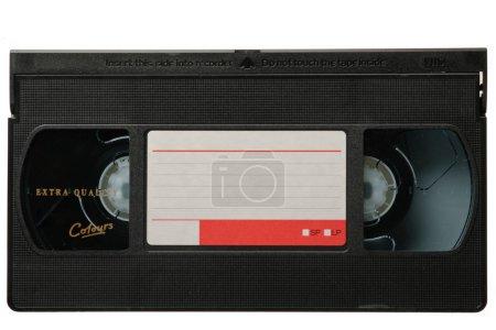 VHS video tape cassette isolated on white backgrou...