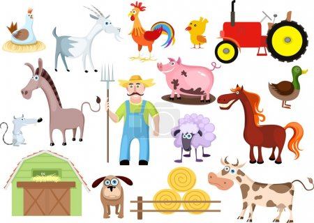 Photo for Vector illustration of a farm set - Royalty Free Image