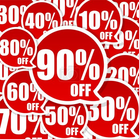 Photo for Crazy Sale Advertisement background with great discount - Royalty Free Image