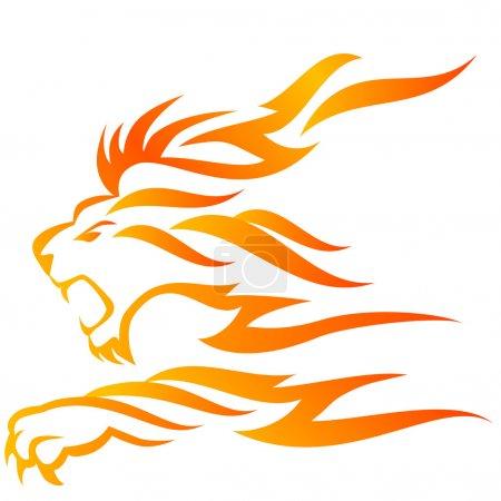 Photo pour Flamme de Lion - image libre de droit