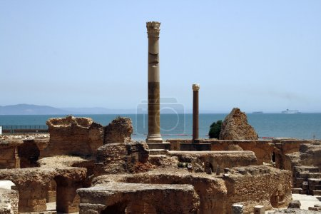 Seaside ruins of Carthage in Tunis - capital city ...