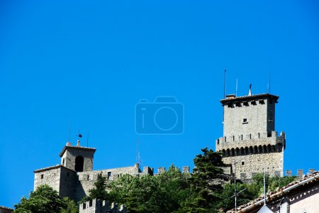 Castel at the top of cliff in San Marino