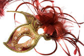 Venetian mask red with gold