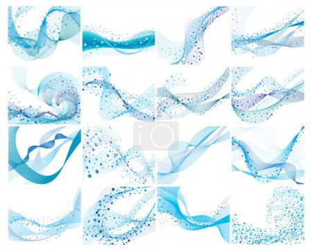 Illustration for Abstract water vector background with bubbles of air - Royalty Free Image