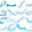 Abstract water vector background with bubbles of a...