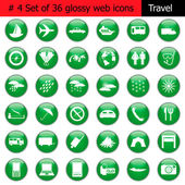 Collection of different icons for using in web design Set #4 Travel
