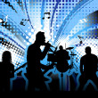 Rock group singers theme. Vector illustration for ...