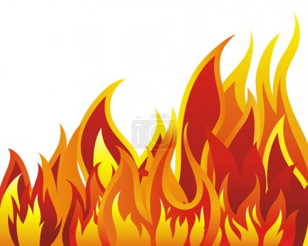 Illustration for Inferno fire vector background for design use - Royalty Free Image