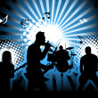 Rock group. Vector illustration for design use....