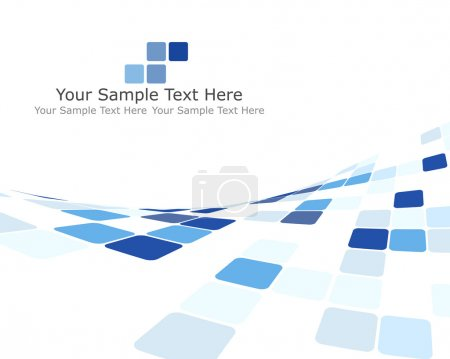 Illustration for Abstract 3d checked business background for use in web design - Royalty Free Image