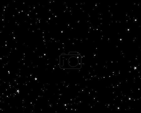 Illustration for Beautiful night starry sky background . Vector illustration. - Royalty Free Image
