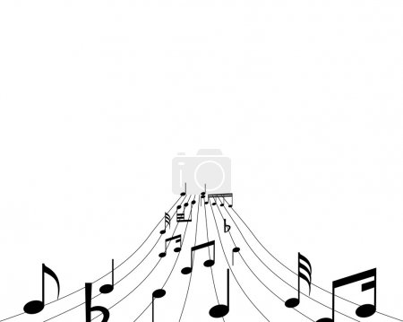 Musical note stuff vector backgrounds with notes a...