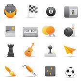 Entertainment Icons Set | Yellow Serie 01