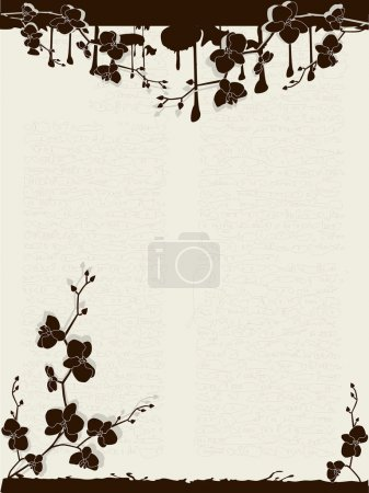 Illustration for Background with orchids - Royalty Free Image
