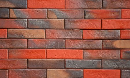 Photo for Wall of colored bricks for the background - Royalty Free Image