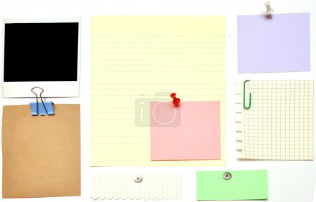 Photo for Collection of various note papers - Royalty Free Image