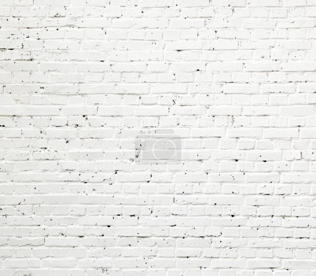 Photo for A white roughly textured brick wall painted with white paint - Royalty Free Image